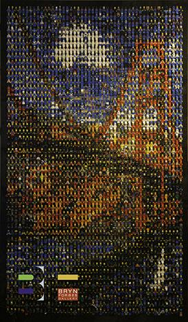 Lego Mosaic Golden Gate Bridge